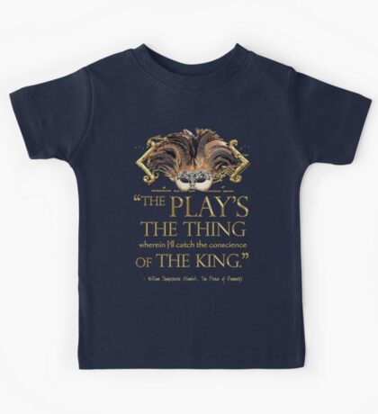 Shakespeare Hamlet Play Quote Kids Tee