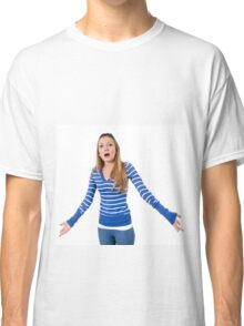 Angry and frustrated Young teen girl  Classic T-Shirt