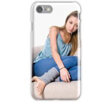 Bored Young teen girl iPhone Case/Skin