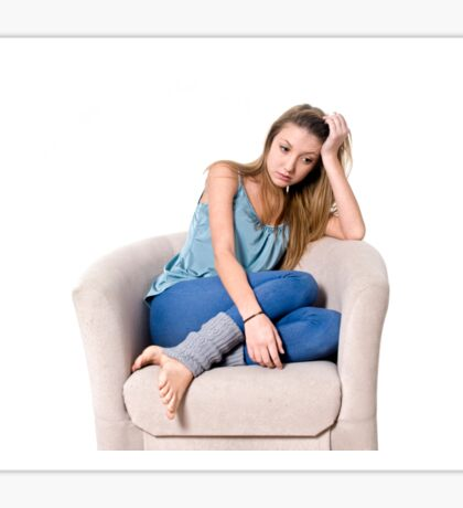 Bored Young teen girl Sticker