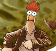 'Beaker Of The Lost Meep' (The Muppets / Indiana Jones) Sticker