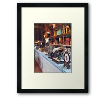 General Store With Scales Framed Print