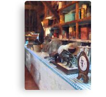 General Store With Scales Canvas Print