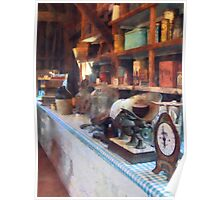 General Store With Scales Poster