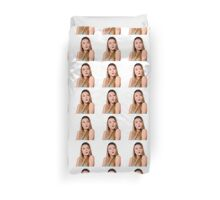 Surprised Young teen girl  Duvet Cover