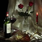 Red Wine and Roses by FrankSchmidt