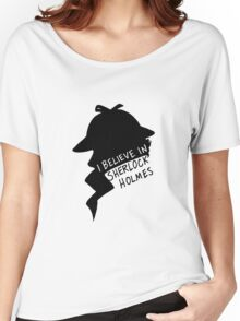 Believe in Sherlock Profile Women's Relaxed Fit T-Shirt