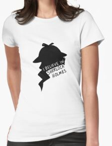 Believe in Sherlock Profile Womens Fitted T-Shirt
