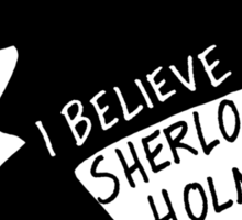 Believe in Sherlock Profile Sticker
