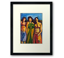 Three Women in Brazil Framed Print