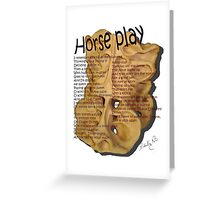 Horse-play Greeting Card