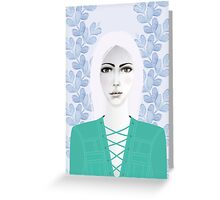 Army Girl Greeting Card