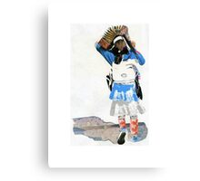 Girl with Accordian Sunshade Canvas Print