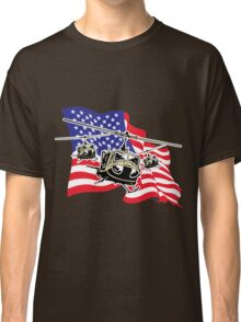 American Flag Helicopters Classic T-Shirt