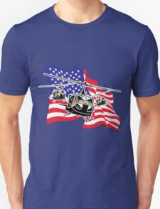 American Flag Helicopters Unisex T-Shirt