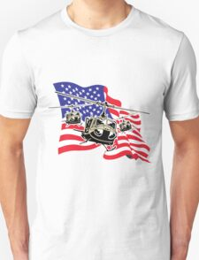 American Flag Helicopters T-Shirt
