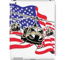 American Flag Helicopters iPad Case/Skin