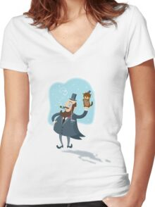 Groundhog Day...yeah!! Women's Fitted V-Neck T-Shirt