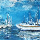 Harbor Reflections (mixed media) by Niki Hilsabeck