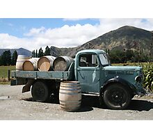 Winery Truck Photographic Print