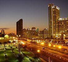 San Diego Downtown after comic con by HidekiIVI