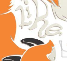 Crazy Like a Fox Sticker Sticker