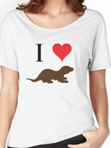 I Love Otters Women's Relaxed Fit T-Shirt