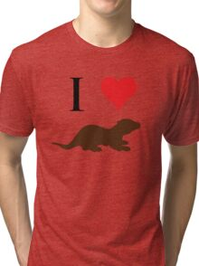 I Love Otters Tri-blend T-Shirt