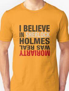 Typography I believe in Sherlock Holmes Unisex T-Shirt