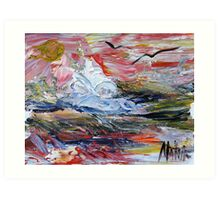 Autumnal winter Seascape 2005 Art Print