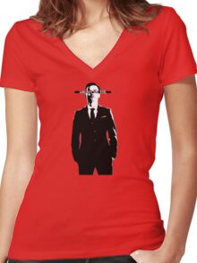 MORIARTY LIVES Women's Fitted V-Neck T-Shirt