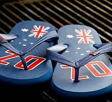 Aussie Tradition - Thongs and a Barbie  by Nina  Matthews Photography
