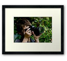 Young Budding Photographer ........... Framed Print