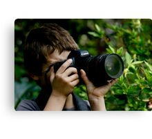 Young Budding Photographer ........... Canvas Print