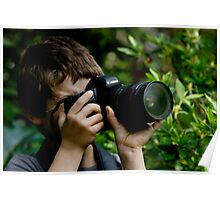 Young Budding Photographer ........... Poster