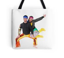 Balance - two acrobats balancing on each other Tote Bag