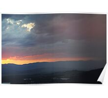 clouds and the hills Poster