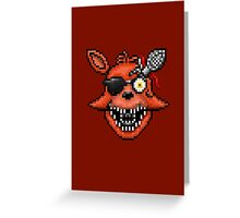 Five Nights at Freddy's 2 - Pixel art - Foxy Greeting Card