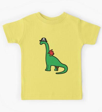 Pirate Dinosaur - Brachiosaurus Kids Tee