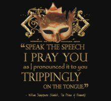 Shakespeare's Hamlet Speech Quote Kids Clothes