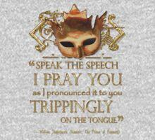 Shakespeare's Hamlet Speech Quote Baby Tee