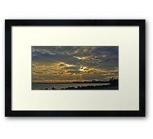 Sunbeams over the Hornibrook Framed Print