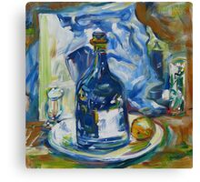 Blue White Still Life Canvas Print