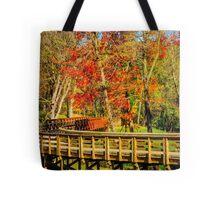 Walking Into Autumn Tote Bag