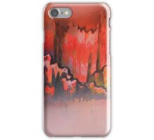 Misty red mountains iPhone Case/Skin