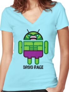 Droid Rage BugDroid Women's Fitted V-Neck T-Shirt