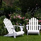 Adirondack Chairs in the Garden by Gabrielle  Lees
