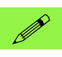 Green Pencil Photographic Print