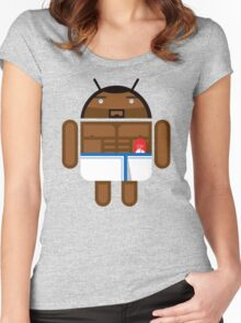 Old Spice Guy BugDroid Women's Fitted Scoop T-Shirt