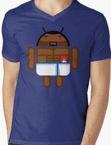 Old Spice Guy BugDroid Mens V-Neck T-Shirt